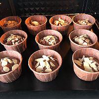 #爱好组-低筋#巧克力杏仁马芬的做法图解10