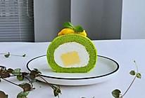 菠菜南瓜蛋糕卷#营养小食光#的做法