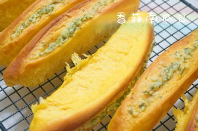 香蒜南瓜面包#跨界烤箱,探索味来#