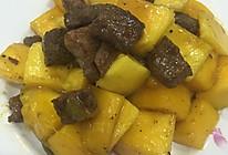 芒果牛肉粒的做法