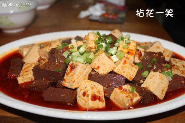 麻婆鸳鸯豆腐的做法
