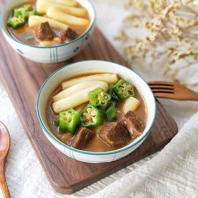 牛肉沙茶煨年糕(冬季你需要的暖与香)
