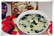 【大喜大牛肉粉试用之】裙带菜疙瘩汤的做法