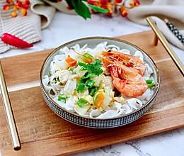 #好吃不上火#大白菜海虾打卤面的做法