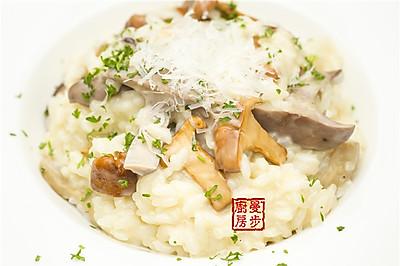 【曼步厨房】野生菌菇意大利烩饭