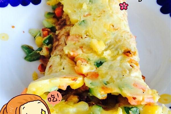 10分钟早午餐~厚蛋卷(一人餐)的做法