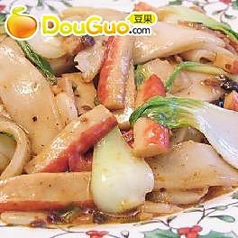 辣味蟹棒炒米片的做法