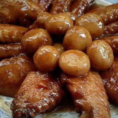 可乐鸡翅+口蘑
