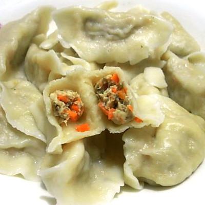美味香菇鸡肉饺子
