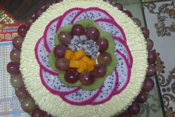 栗容水果蛋糕的做法
