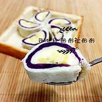 香蕉紫薯卷#急速早餐#的做法图解5