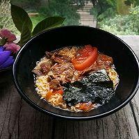 番茄牛肉紫菜面#天天秀美食#的做法图解9
