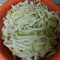 圆白菜炒粉条的做法图解2
