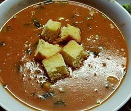 不需要牛奶黄油etc也能做的番茄浓汤~!【取自某腾】的做法