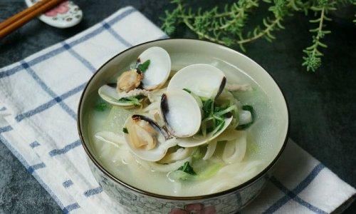 父亲的味道——蛤蜊肉丝青菜手擀面的做法