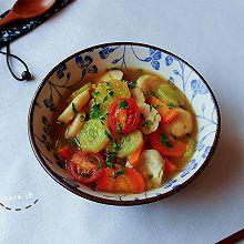 胡胡香茄鱼丸汤