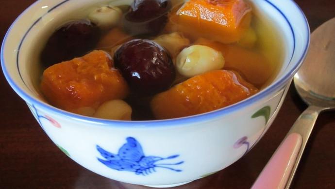 春天养颜美容——南瓜红枣莲子汤