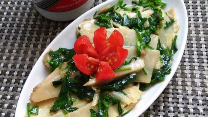 上海年夜饭必备荠菜笋片