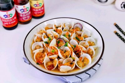 蒜蓉蛤蜊蒸金针菇