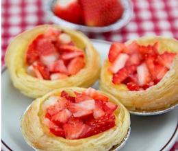 草莓乳酪蛋挞的做法