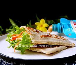夺人眼球的口袋饼#挤出大趣味,及时享美味#的做法