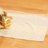 韭黄肉春卷-迷迭香的做法图解4