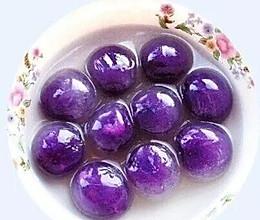 紫薯水晶汤圆的做法