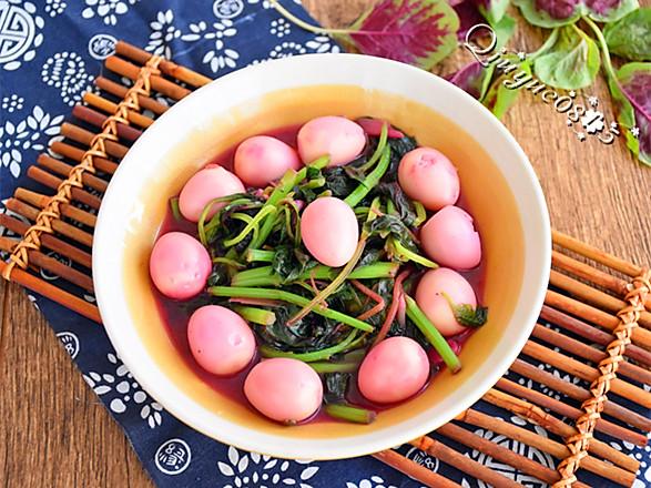 苋菜鹌鹑蛋的做法