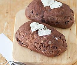 巧克力蔓越莓软欧包的做法