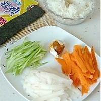 咸蛋黄寿司的做法图解2