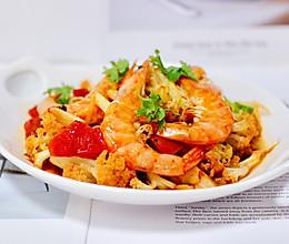 #童年不同样,美食有花样#菜花番茄海虾小炒的做法