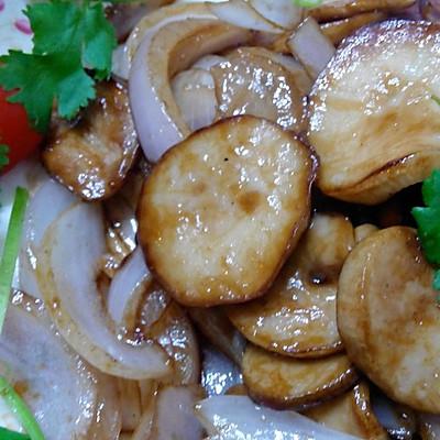 洋葱干煸杏鲍菇
