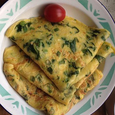 菠菜蛋奶饼(营养早餐)