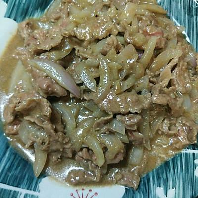沙茶洋葱炒牛肉