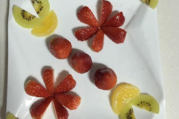 橙子水果拼盘动物