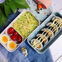 #monbento为减脂季撑腰#紫菜包饭&蔬菜沙拉便当