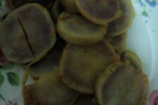 橙汁煎紫薯的做法