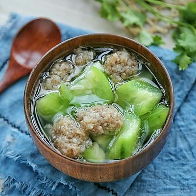 肉丸丝瓜汤
