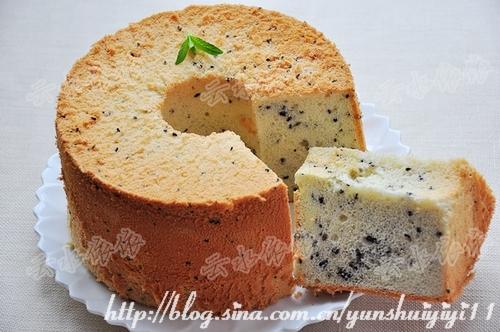 黑牛奶黑芝麻之戚风蛋糕的做法