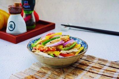 低脂彩椒鸡肉沙拉~中式减脂餐