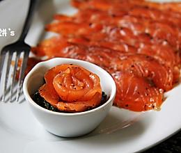 源自北欧【GRAVLAX腌渍三文鱼】啫喱质感有嚼劲的做法