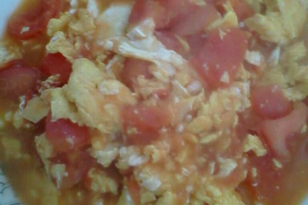 柿子炒鸡蛋的做法