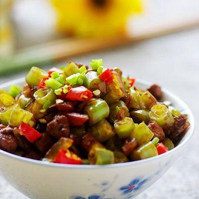 五柳菜肉末四季豆