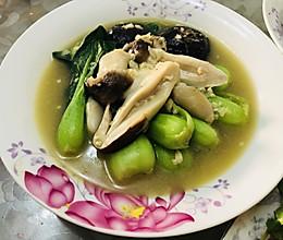 青菜双菇的做法