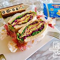 多彩野餐三明治#百吉福食尚达人#的做法图解17