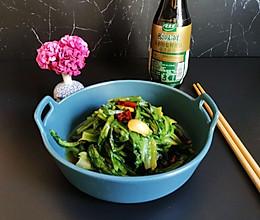#仙女们的私藏鲜法大PK#清炒油麦菜的做法
