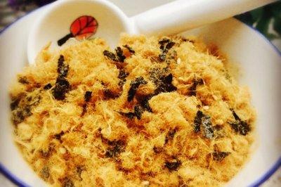 自制海苔芝麻肉松~面包机版