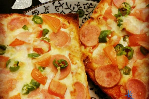 快手吐司披萨的做法