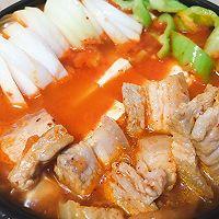 韩式五花肉辣白菜豆腐汤 思密达style 看韩剧必备宵夜的做法图解9
