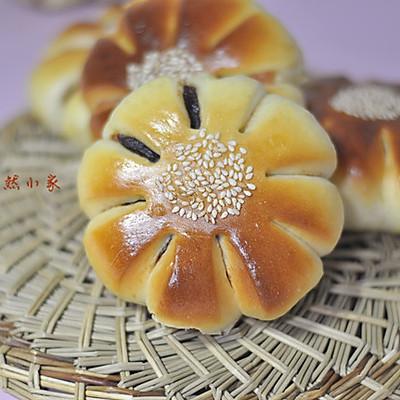 花形豆沙面包